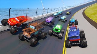 Race Cars Monster Trucks Daytona McQueen and Friends Mater The King Ivan Chick Hicks