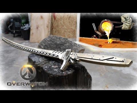 Casting a Bronze Katana - Genji Sword (OVERWATCH)