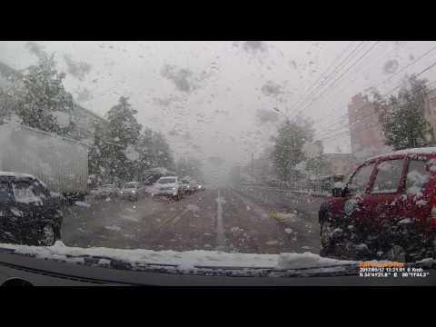 Погода в Ленинске-Кузнецком 17 мая 2017 снежная  метель