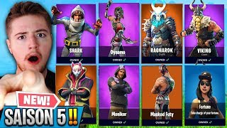 I BUY ALL the SKINS of SAISON 5 FORTNITE! (Season 5 Skins)