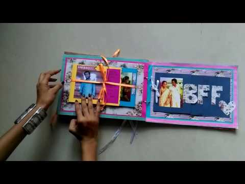 DIY handmade scrapbook for best friend
