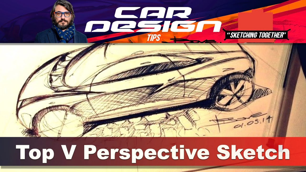 Drawing Cars Tutorial By Luciano Bove The Top View Perspective