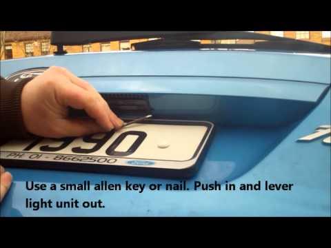 Fiesta Rear Number Plate Light Replace