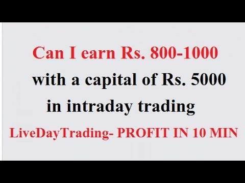 Trading Strategy EQUITY -Can I earn Rs. 800-1000 with a Capital of Rs. 5000 in Intraday Trading