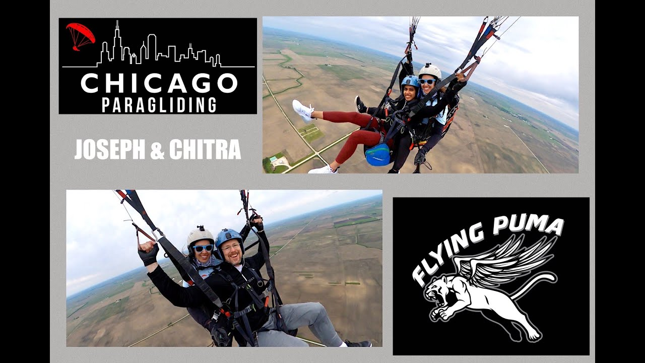 Tandem with Joseph & Chitra | Chicago Paragliding