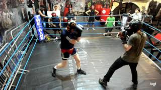 White collar sparring at The Ring Boxing Club