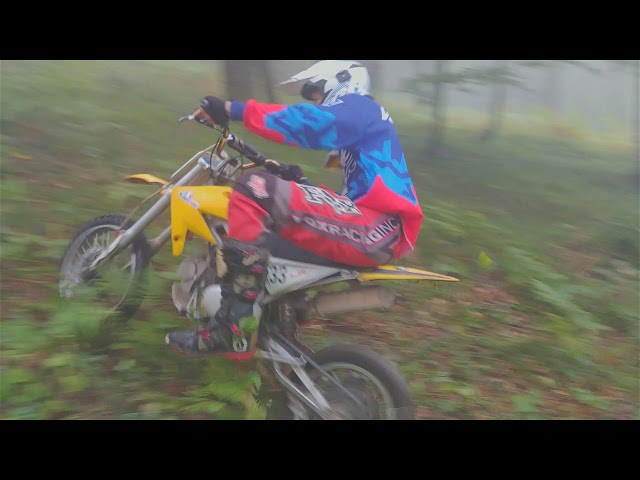 Husqvarna te 310R, XMOTOS 125 Jumps in Forest