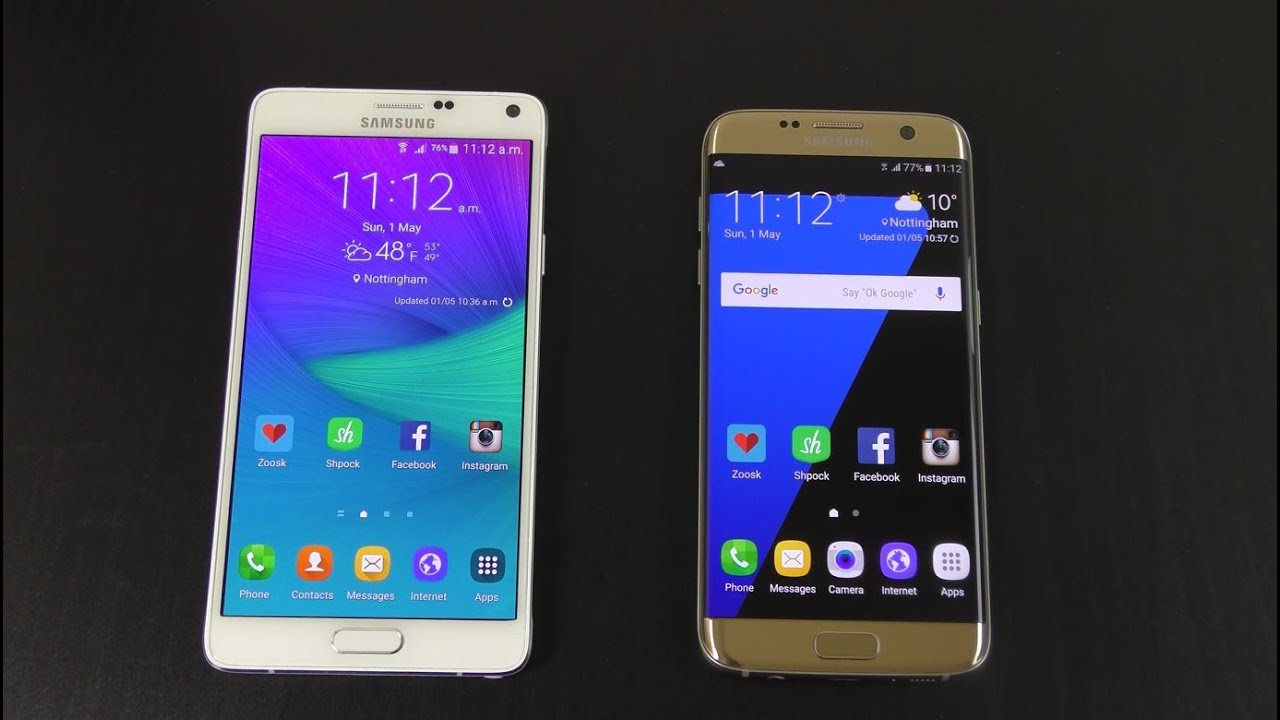 Samsung Galaxy Note 4 Official Android 6.0.1 Vs S7 Edge