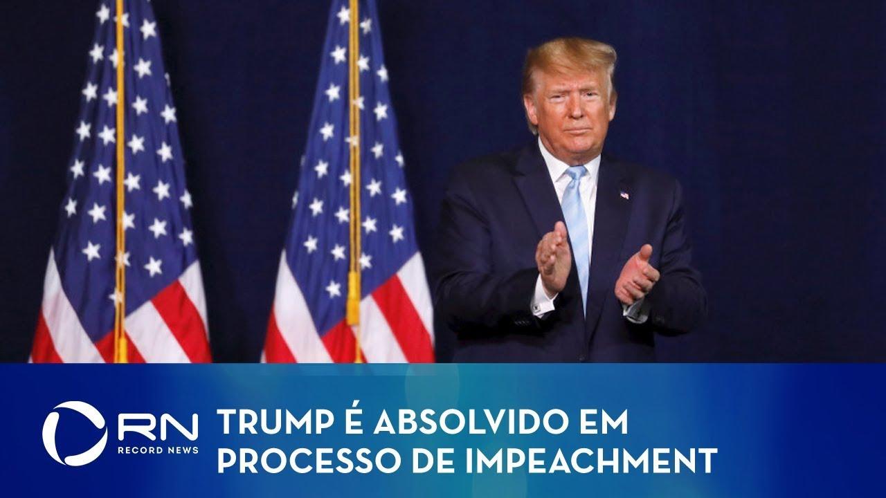 Resultado de imagem para trump é absolvido em processo de impeachment