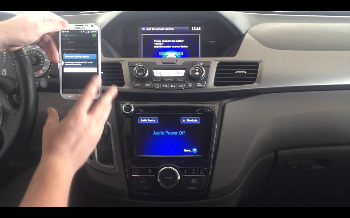 Bluetooth HandsFreeLink Connection 2015 Odyssey Models - YouTube