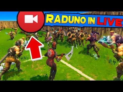 RADUNO SU FORTNITE IN LIVE (SERVER PERSONALIZZATI) | FORTNITE ITA