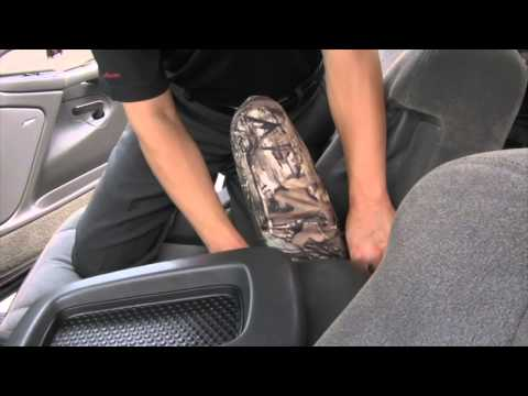 2003-2007 Chevy Silverado Ext Cab Custom Seat Covers Installation
