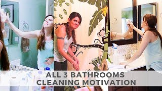 ALL BATHROOM CLEANING MOTIVATION // CLEANING MOM