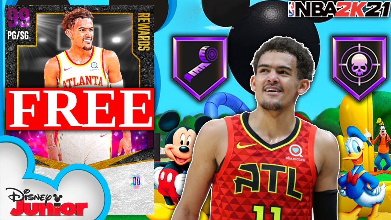 FREE DARK MATTER TRAE YOUNG GAMEPLAY! WAS I WRONG TO CALL HIM A MICKEY MOUSE CARD?!? NBA 2K21 MyTEAM
