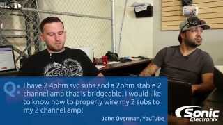 How do I Wire My Subwoofers to My 2-Channel Amplifier? | Car Audio Q & A