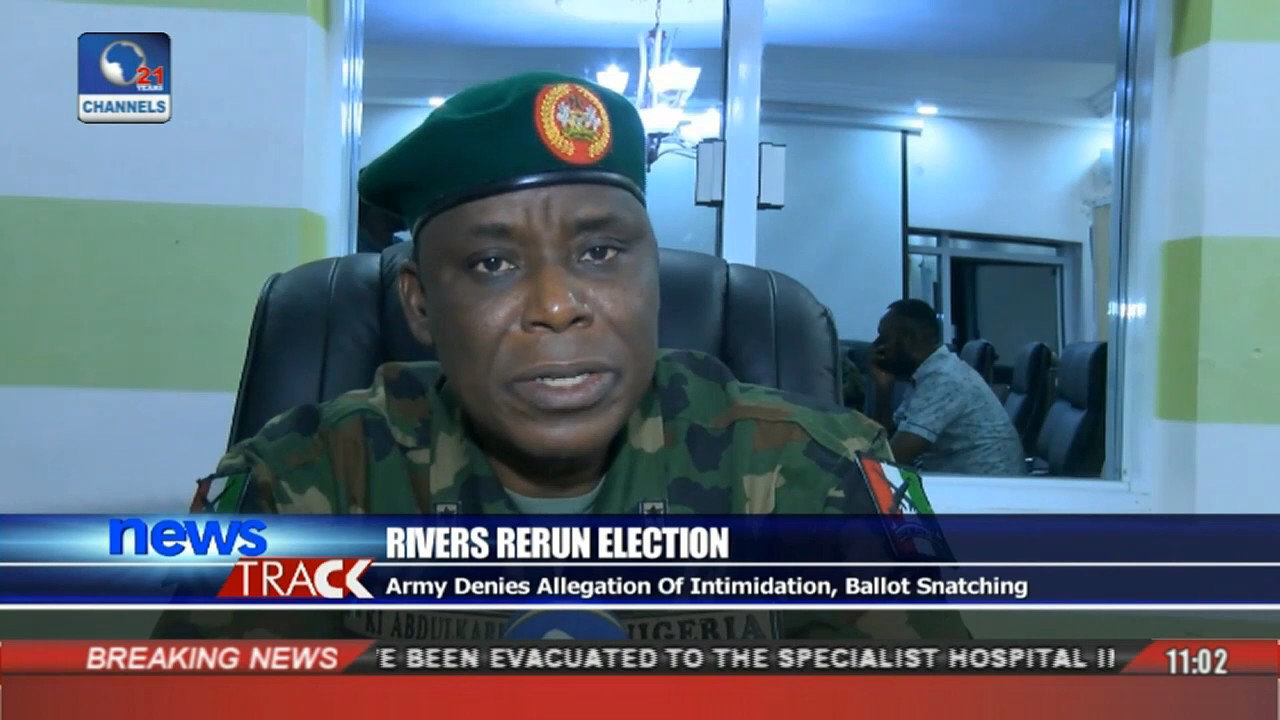 Rivers Rerun Election: Army Denies Allegations Of Intimidation, Ballot Snatching