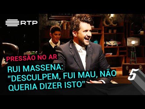 Rui Massena: 'Desculpem, fui mau, não queria dizer isto'   5 Para a Meia-Noite   RTP