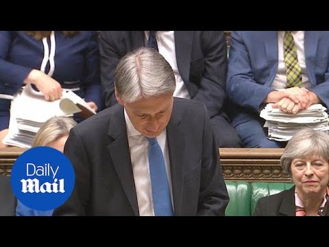 Philip Hammond jokes about John McDonnell's red book - Daily Mail