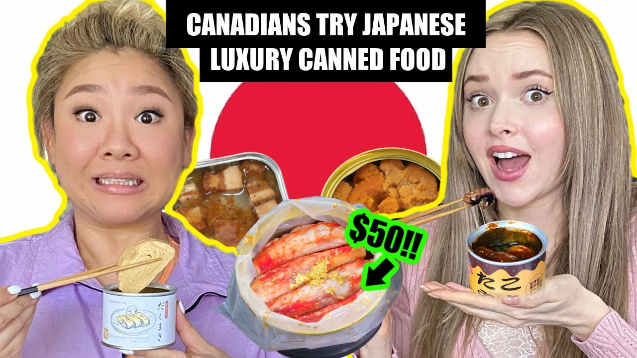 We Tried Japanese Luxury Canned Food (ft. Joyce Cheng鄭欣宜)