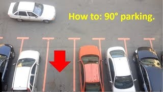 Easy parking 90 degrees backing up.