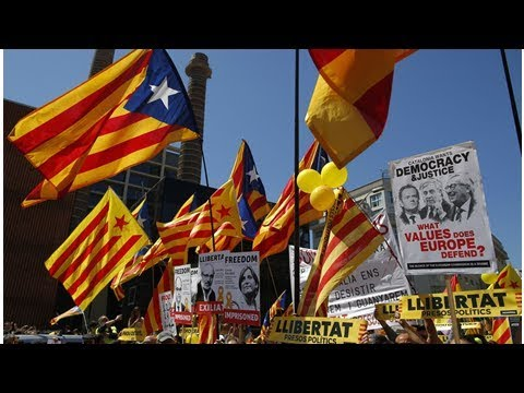 Barcelona protesters demand release of jailed Catalan separatists