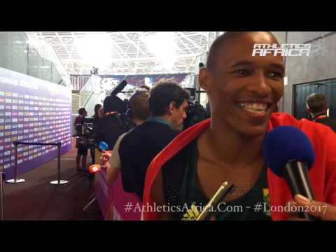 Ruswahl Samaai (South Africa) on his Bronze medal in Long Jump Men - London 2017 IAAF World Champs