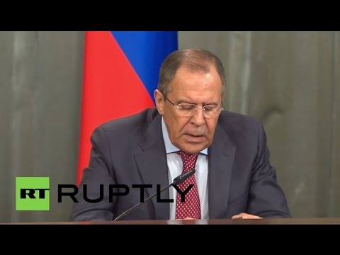 LIVE: Press statement after meeting between Lavrov and Burundi's FM