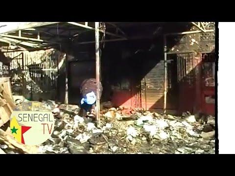 Incendie au marché de Grand Dakar