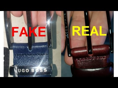 Real Vs Fake Hugo Boss Belt. How To Spot Counterfeit Hugo Boss