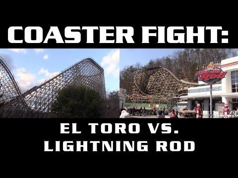El Toro vs. Lightning Rod - COASTER FIGHTS!