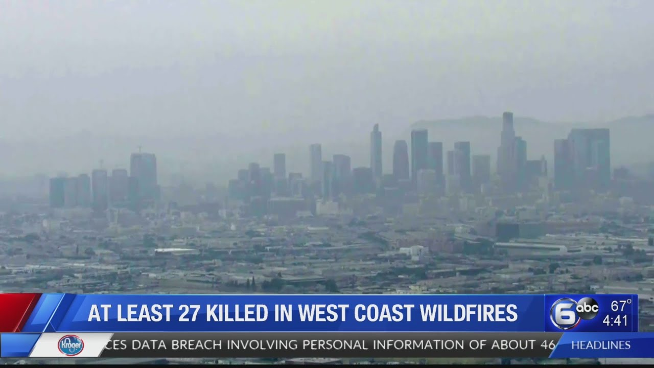 Fire danger eases some in West, but smothering smoke persists