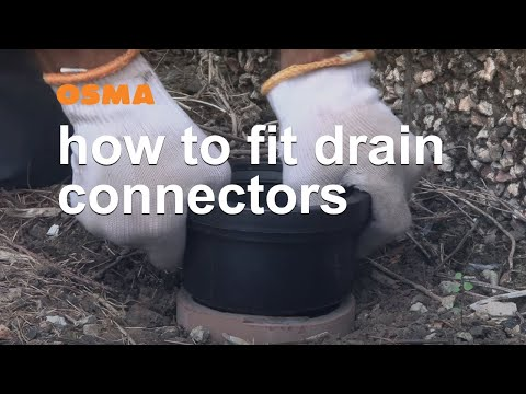 How to fit drain connectors - OSMA Soil & Waste