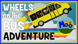 Wheels on the Bus | A Stop Motion Animation Adventure for Kids by Moo Da Moo
