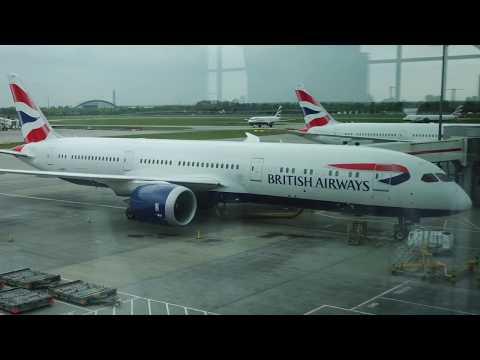 British Airways Boeing B787-9 Dreamliner flight Heathrow - Newark (2017)