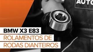 Instalação Jogo de rolamentos de roda traseira e dianteira BMW X3: vídeo manual