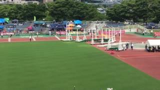 """女子 100mH 決勝 +0.3 1 伊藤 彩香3 (霧丘中) 14""""54 標準突破 2 久古 那..."""