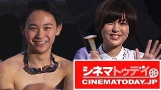 映画『スイートプールサイド』初日舞台あいさつが行われ、主演の須賀健...
