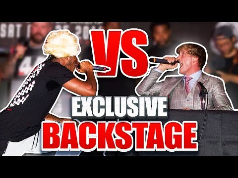 KSI VS LOGAN PAUL EXCLUSIVE BACKSTAGE FOOTAGE (PRESS CONFERENCE)