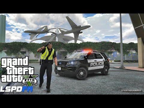 GTA 5 LSPDFR 0.3.1 - EPiSODE 425  - LET'S BE COPS - AIRPORT PATROL (GTA 5 PC POLICE MODS)