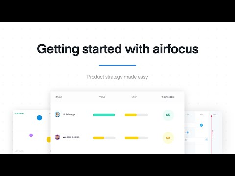 Getting started with airfocus