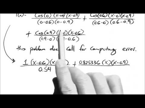 Lagrange Polynomial for interpolation