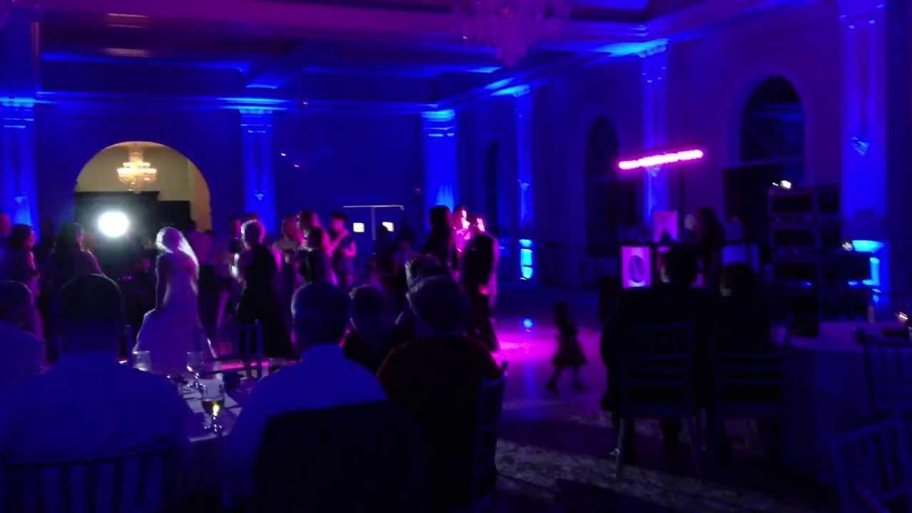 ct wedding dj lighting at aria prospect connecticut