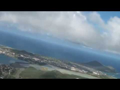 Helicopter Tour Honolulu to Northshore and back Part 1 (Hawaii)