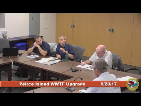 Peirce Island Waste Water Treatment Facility Upgrade 9.20.2017