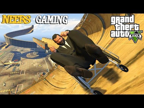 GTA 5 - BOBSLED TRACK - FUNNY VEHICLES MOD - Grand Theft Auto Mods Gameplay Video