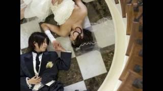 結婚式二次会の余興に製作して頂いたパロディビデオです。披露宴で流れたものと同じ、まじめなプロフィールムービーの後にサプライズでしこまれました('-'*