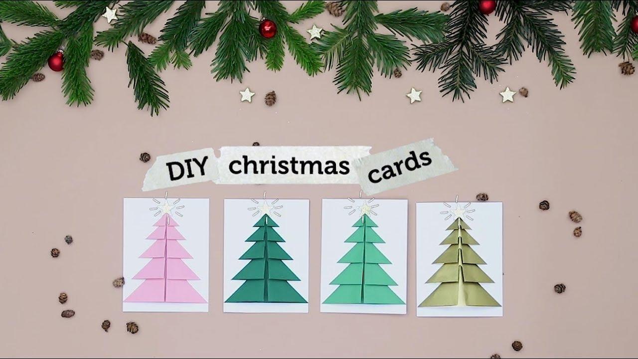 tutorial weihnachtskarten mit tannenbaum basteln i. Black Bedroom Furniture Sets. Home Design Ideas