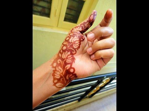 Diy Lotus Flower Strip Mehndi Design With Negative Space Technique