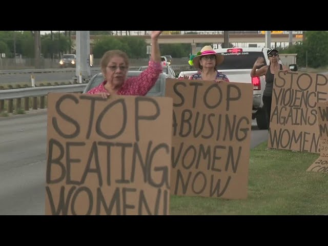 Local group organizes roadside protest after mother allegedly killed by son, friend