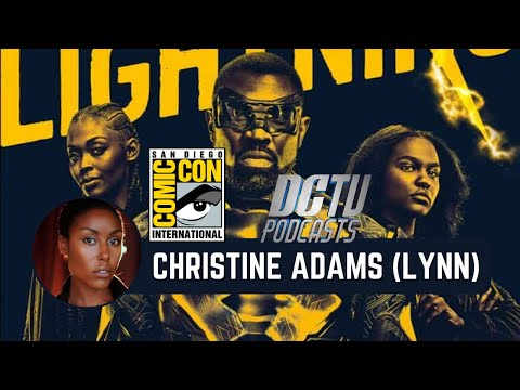 Black Lightning Round Table ComicCon 2017: Christine Adams  DCTV Podcasts